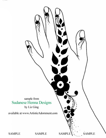 photograph regarding Printable Henna Designs named Sudanese Henna Styles