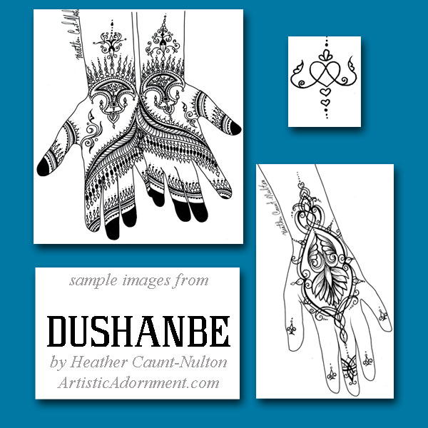Dushanbe - Henna designs inspired by the art of Tajikistan