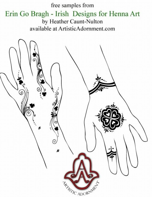 Irish Designs for Henna Art - Henna by Heather for ArtisticAdornment.com