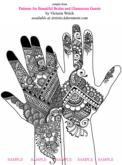 modern indian fusion mehndi design bridal henna design mehendi ceremony guest pattern