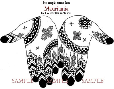 Mauritania - Henna Design Ebook - Free Sample - ArtisticAdornment.com