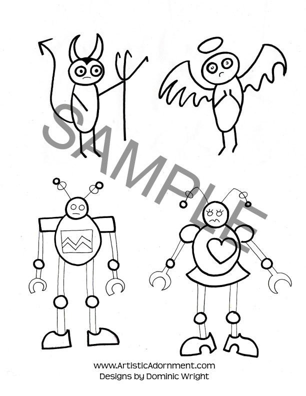 devil angel henna tattoos robots in love boy man henna designs cute